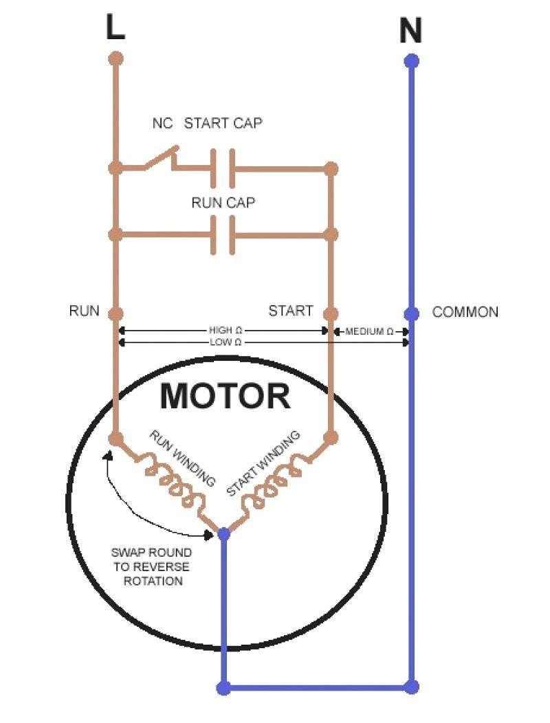 wrg 4500] on a condenser fan motor run capacitor wiring Condenser Fan Motor Wiring