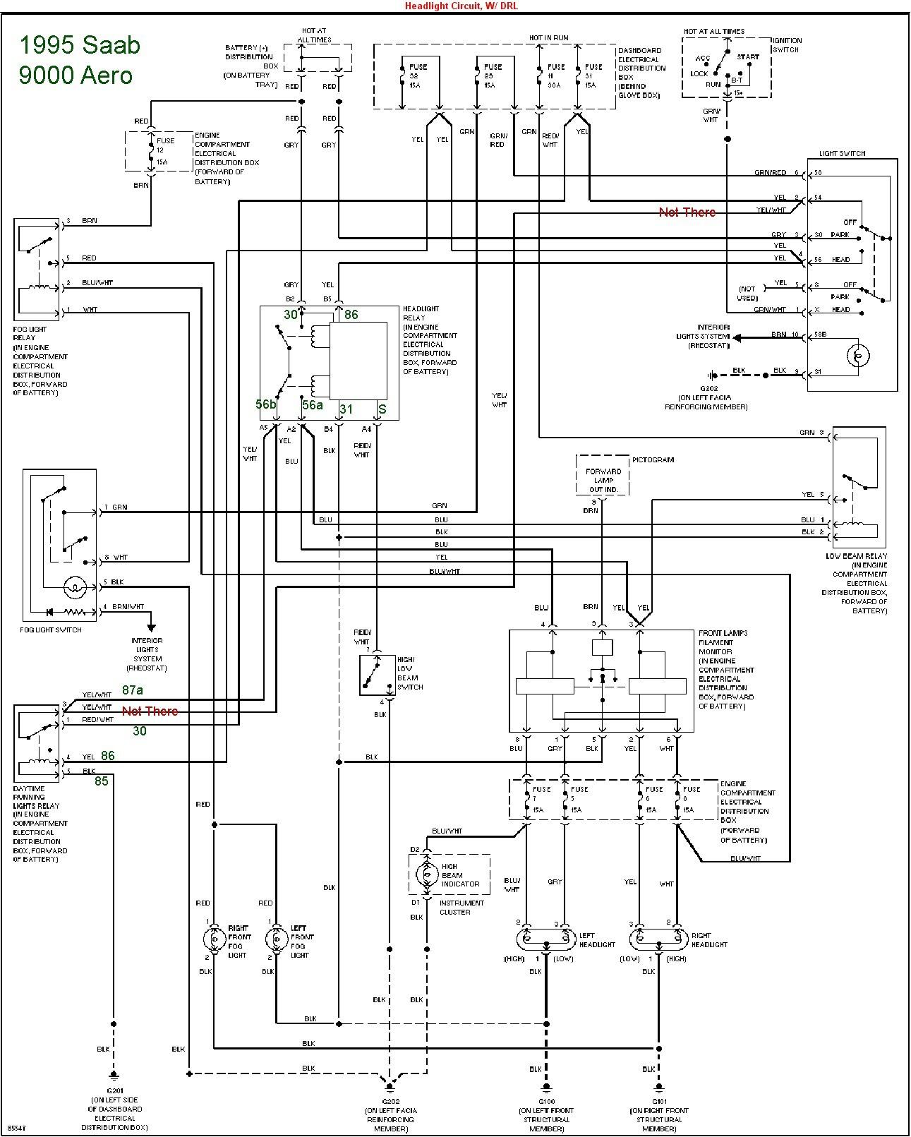 saab towbar wiring diagram
