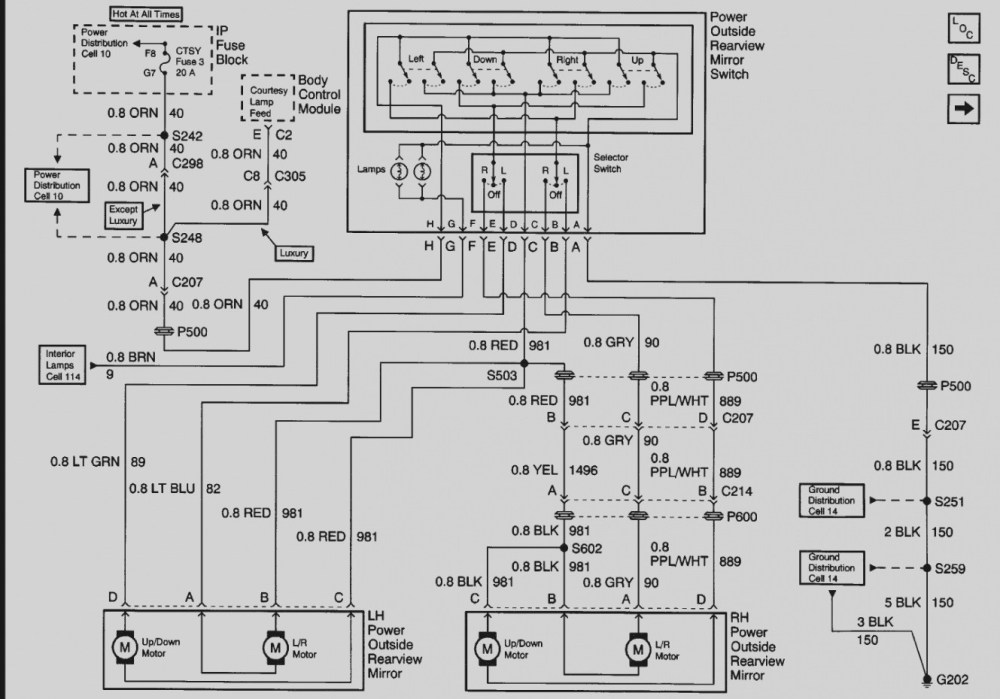 medium resolution of wrg 2228 gmc rear view mirror wiring diagram 2009 gmc sierra mirror wiring diagram