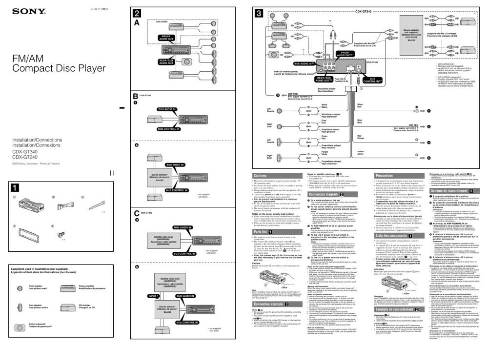 medium resolution of sony cdx gt56ui wire diagram wiring librarysony car stereo wiring diagram wiring diagram image rh mainetreasurechest