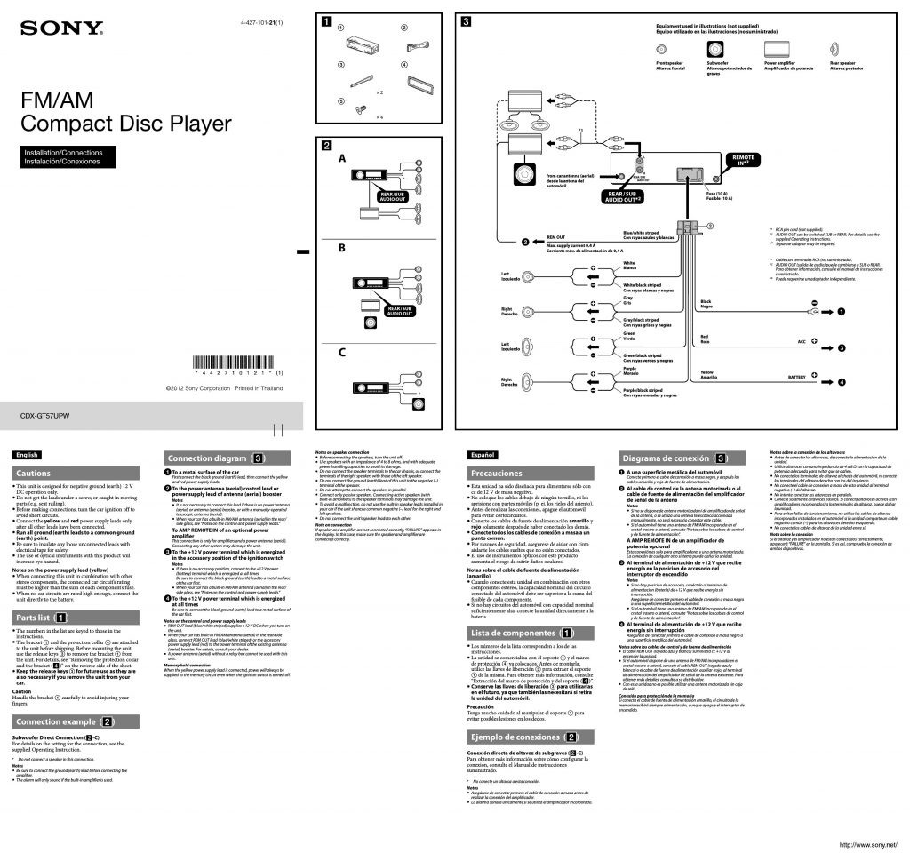 Sony Xplod Car Radio Wiring Diagram / Diagram Sony Cdx