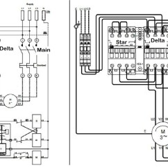 Wiring Diagram Of Wye Delta Motor Control 4 Wire Ignition Switch Bypass Star Starter Circuit