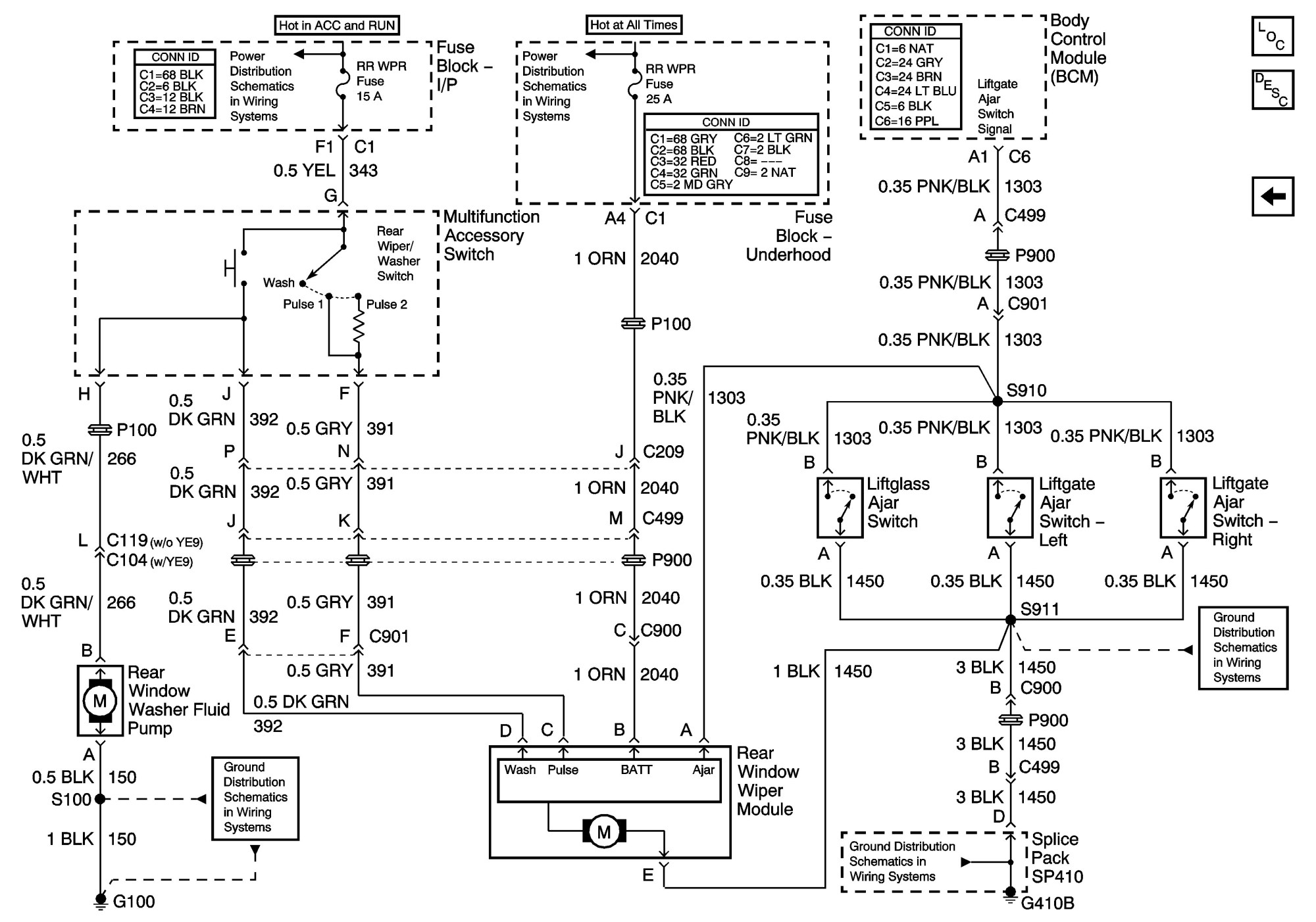 hight resolution of need the wiring diagram for a rear wiper motor 2001 chevy tahoe rh insurapro co