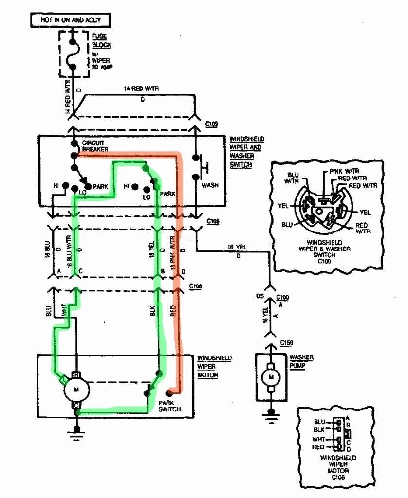 Windshield wiper motor wiring diagram lovely car cj7 wiper wiring diagram please help wipers when the