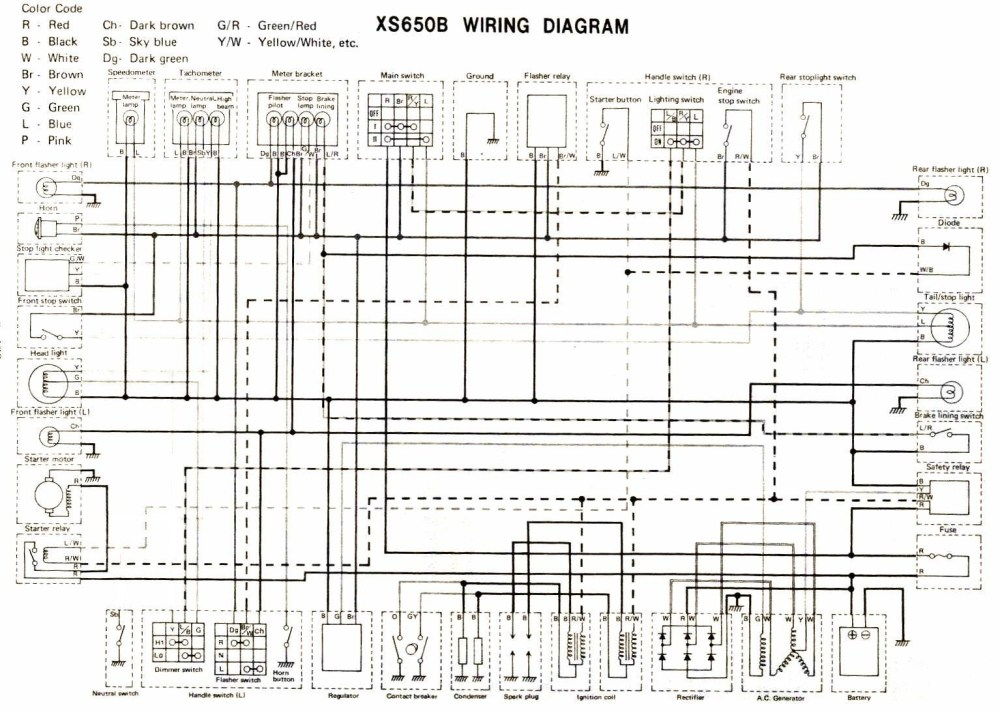 medium resolution of 1983 yamaha 650 xs wiring diagram wiring diagram toolbox
