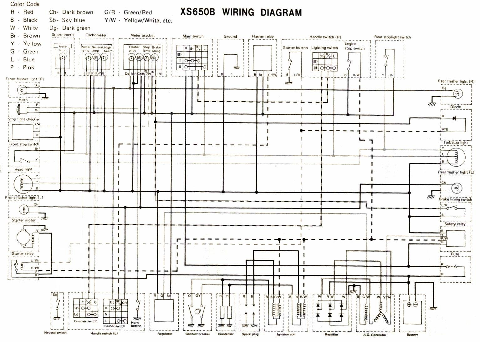 hight resolution of 1983 yamaha 650 xs wiring diagram wiring diagram toolbox