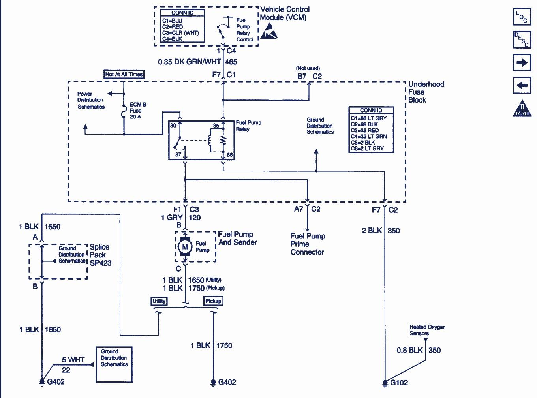 Chevy Fuel Pump Relay Wiring Diagram 1997 | Wiring Diagram
