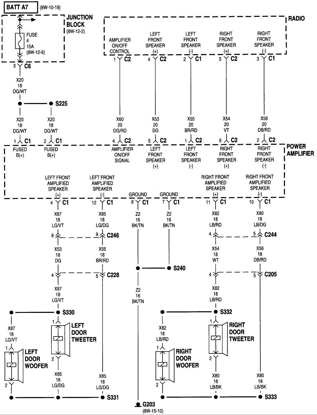 dodge caravan radio wire harness schematic