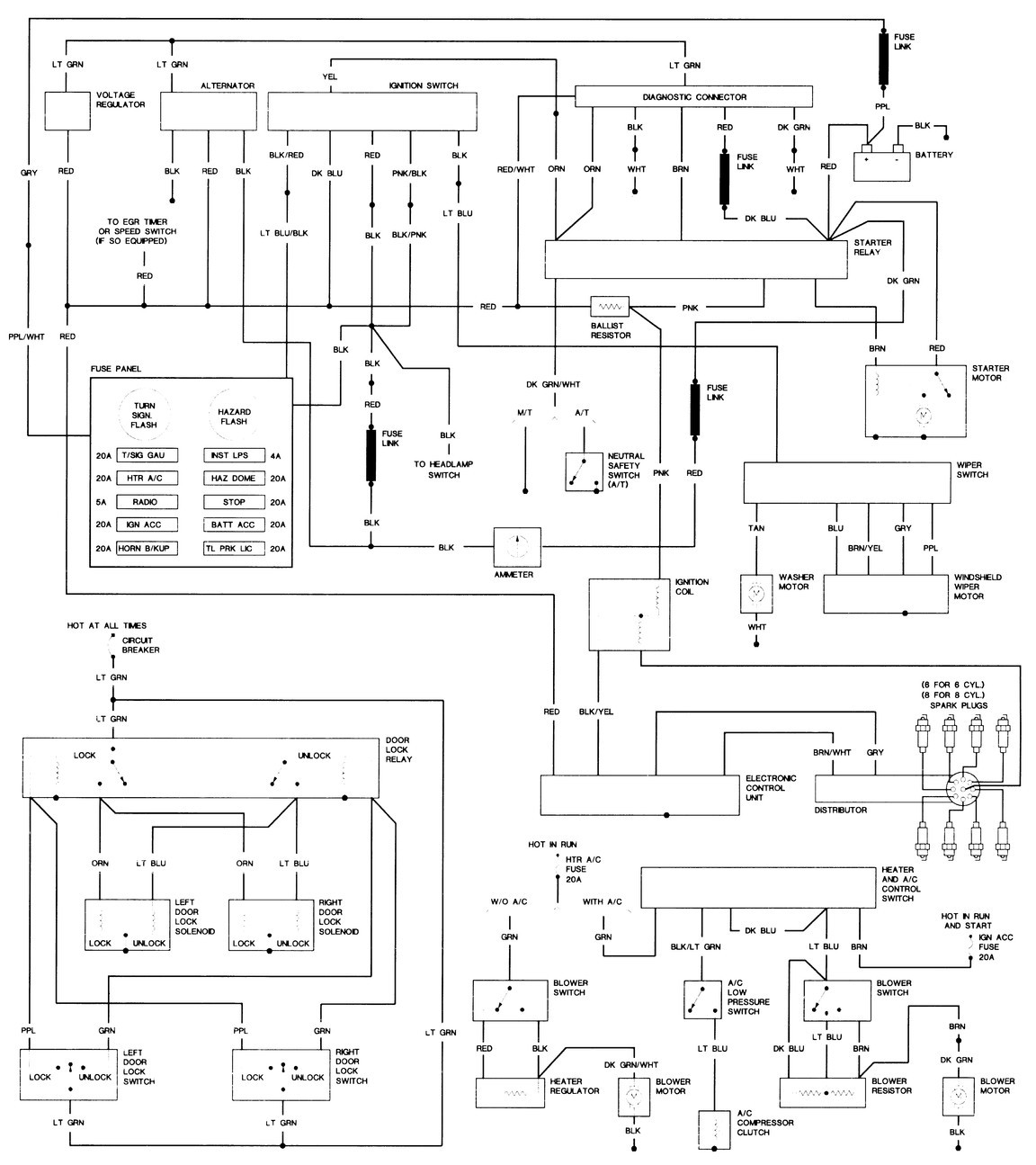 [WRG-1299] 1979 Plymouth Wiring Diagram