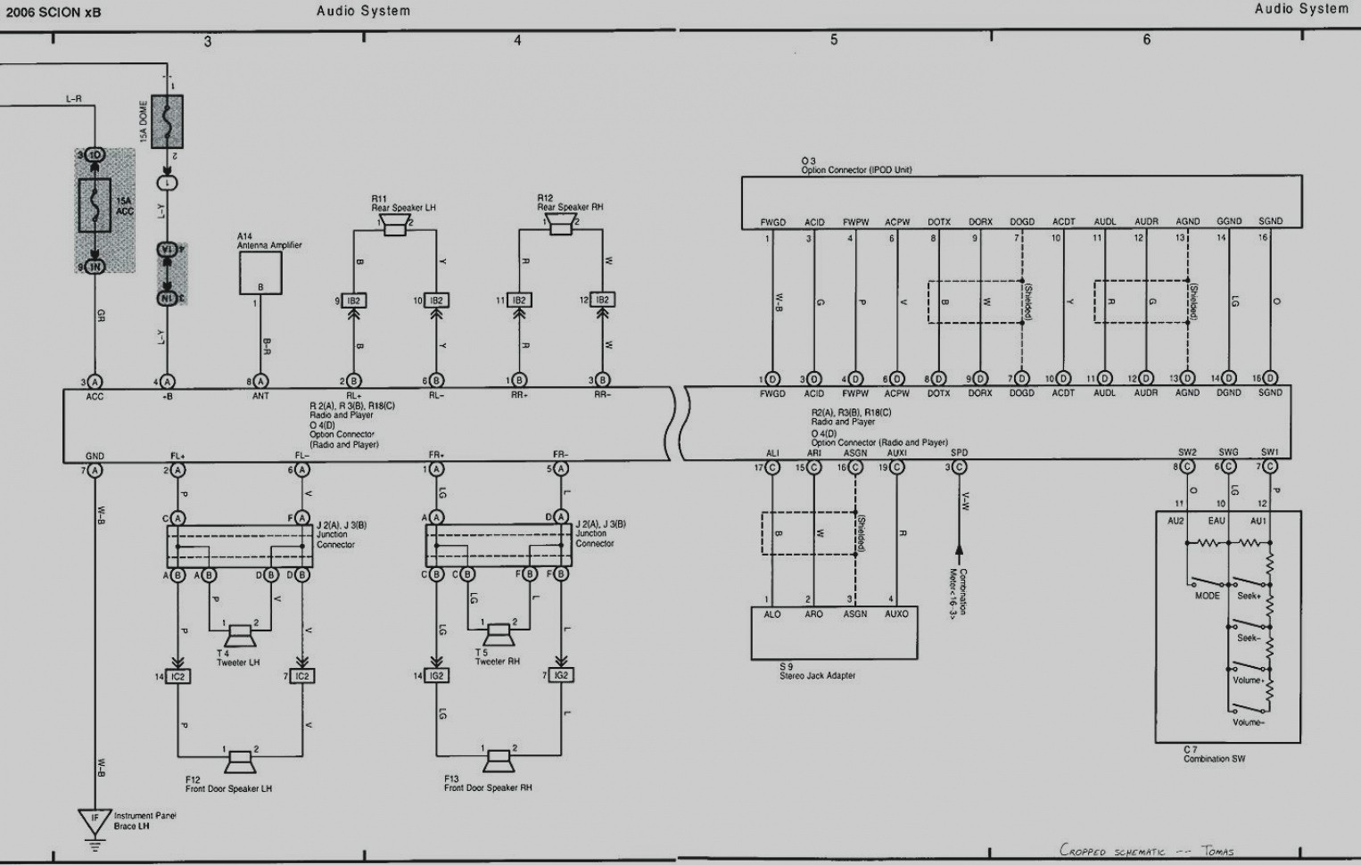 2004 scion xb radio wiring
