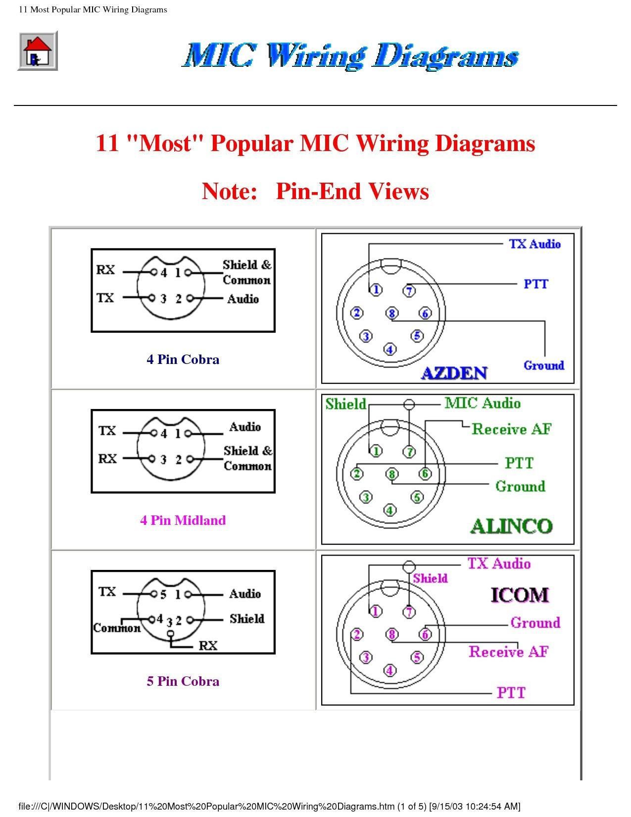 Radio S Cb Radio Mic Wiring   Wiring Diagram on