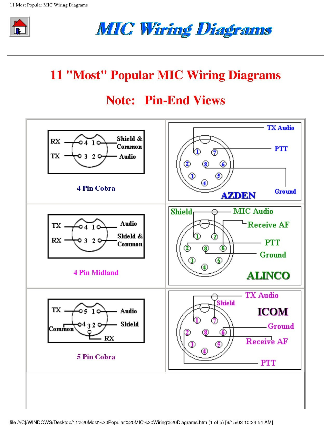 hight resolution of 5 pin cb mic wiring diagram wiring diagram 5 pin cb mic  wiring