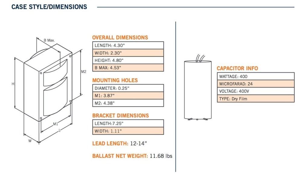 medium resolution of 208 volt hps ballast wiring diagram