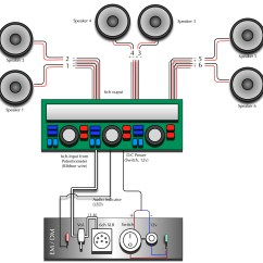 2 Amp Wiring Diagram Car Stereo Diagrams 6 Speakers 4 Channel Unique
