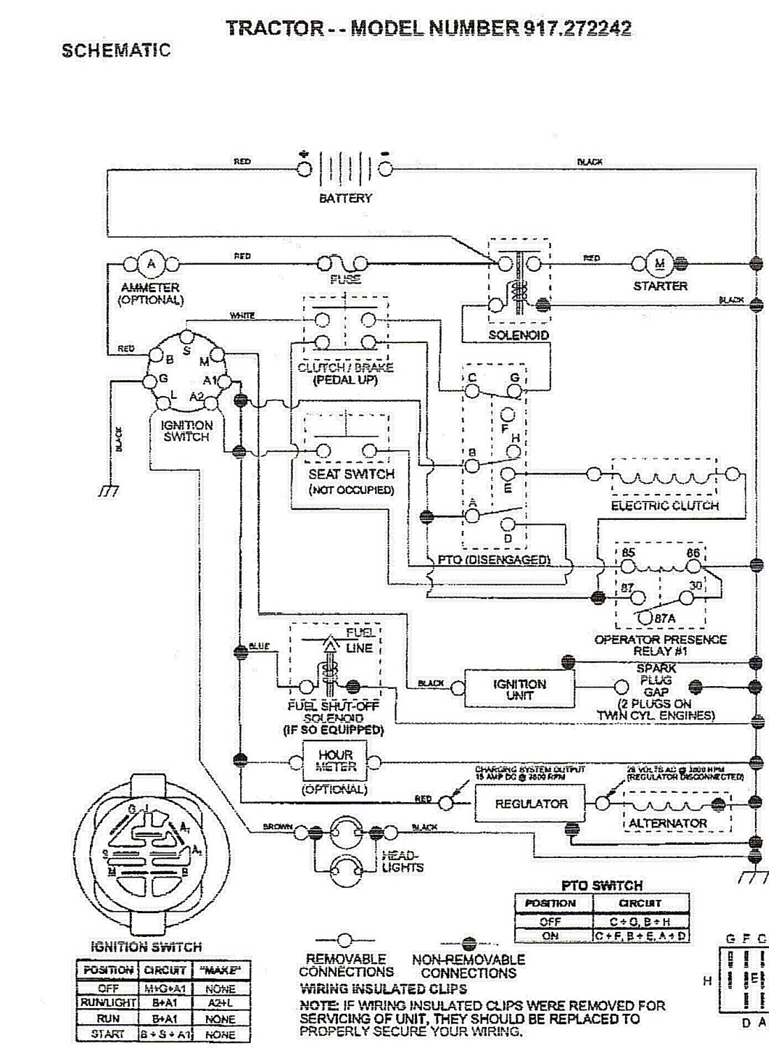 Briggs And Stratton Model 42a707 Wiring Diagram