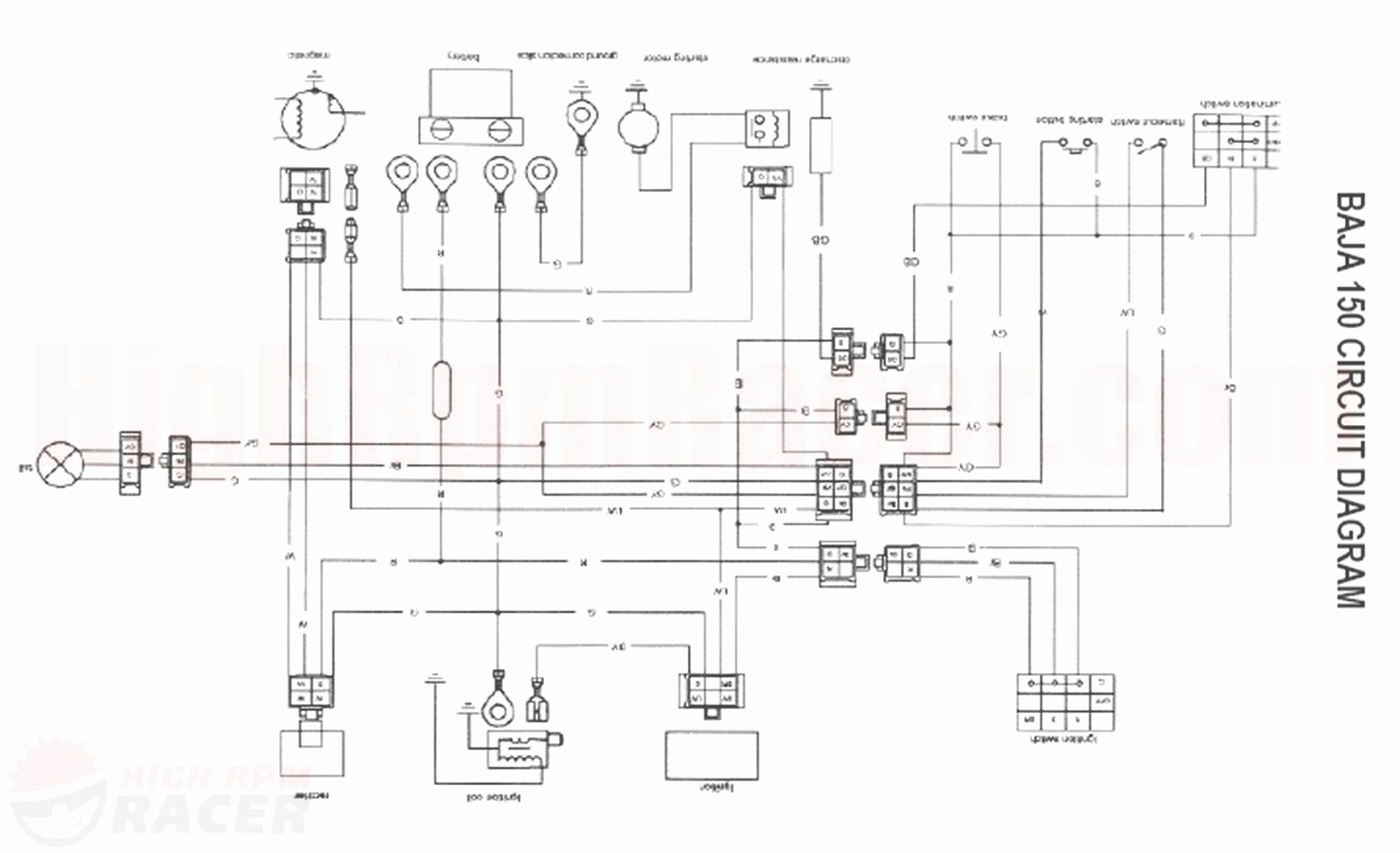 wiring diagram for 50cc chinese atv 1999 acura integra stereo image