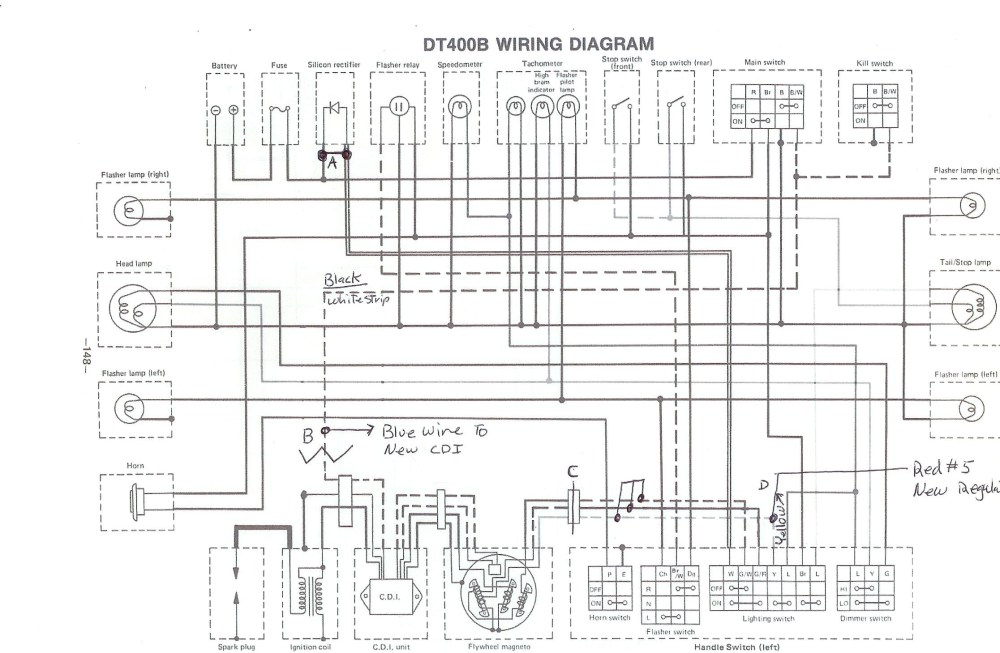 medium resolution of yamaha xt125x wiring diagram