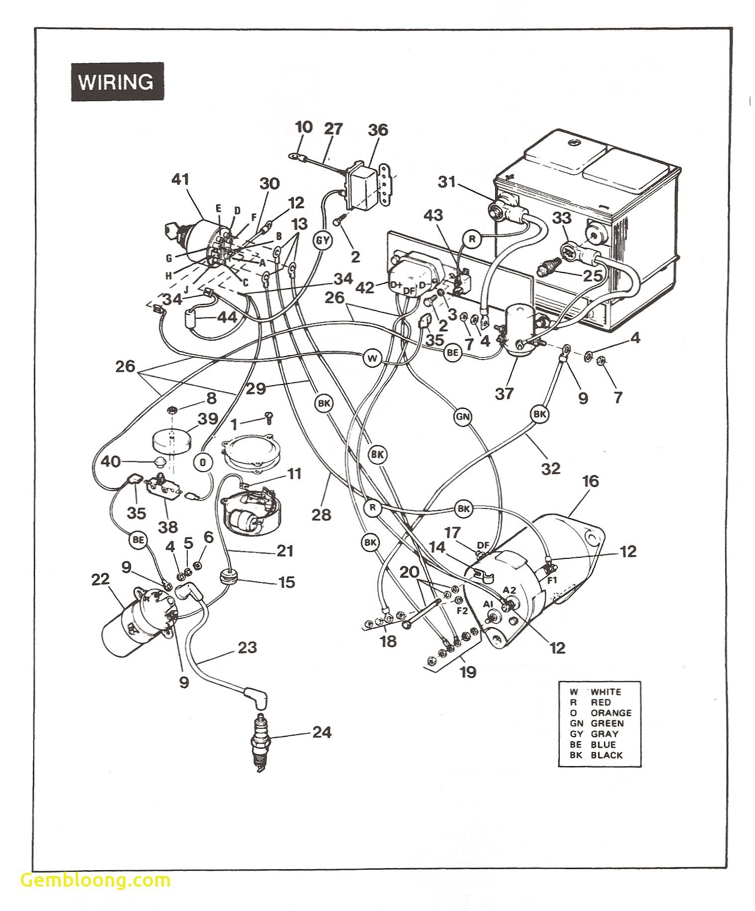 Inspirational Club Car Electrical Diagram 48 Volt