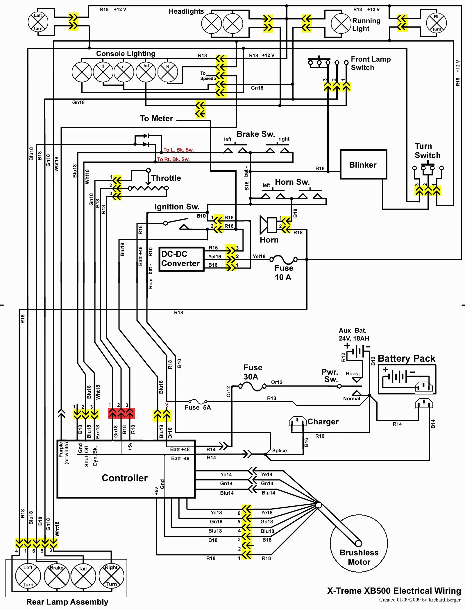 Razor E100 Electric Scooter Wiring Diagram