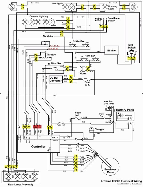 small resolution of 48 volt 2003 club car wiring diagram dsl model electrical wiring yamaha golf cart 36 volt 1997