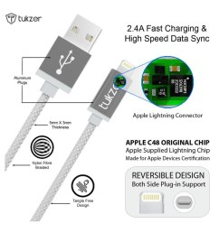 tukzer premium 8 pin lightning usb mfi certified cable for apple iphone ipad and ipod iphone charger diagram elegant wiring  [ 850 x 995 Pixel ]