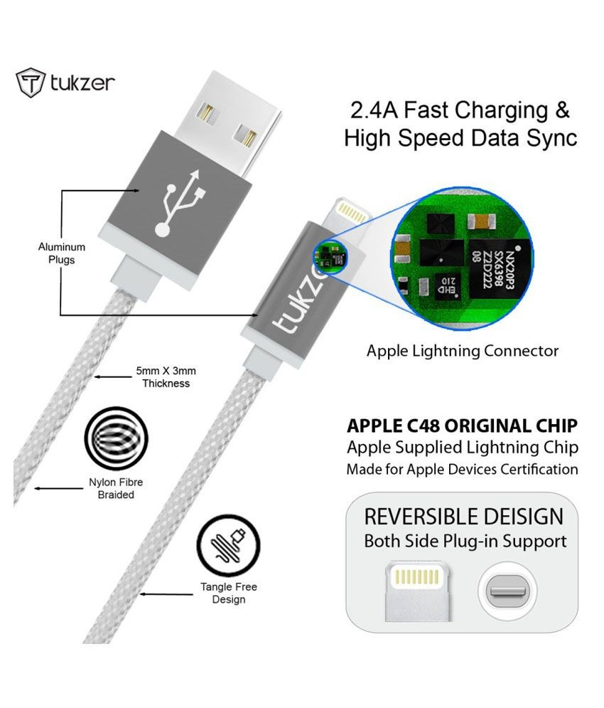 hight resolution of tukzer premium 8 pin lightning usb mfi certified cable for apple iphone ipad and ipod iphone charger diagram elegant wiring