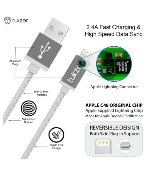 small resolution of tukzer premium 8 pin lightning usb mfi certified cable for apple iphone ipad and ipod iphone charger diagram elegant wiring