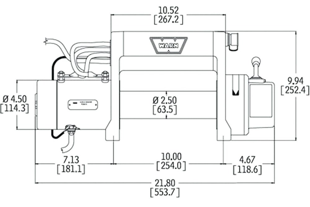 medium resolution of electric winch wiring diagram and front bumper new warn m8000 in
