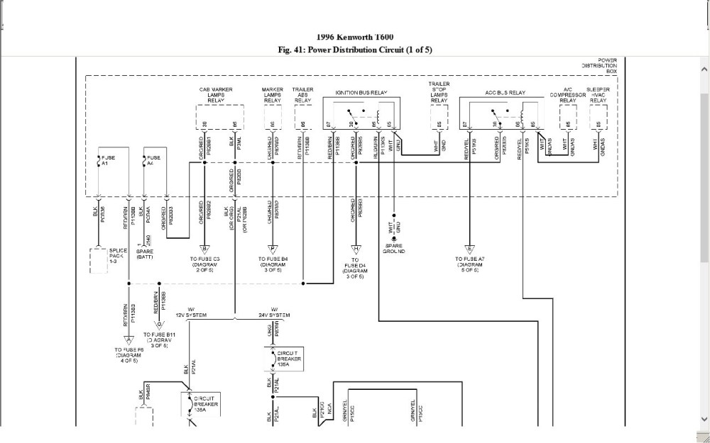 medium resolution of kenworth t800 wiring schematic