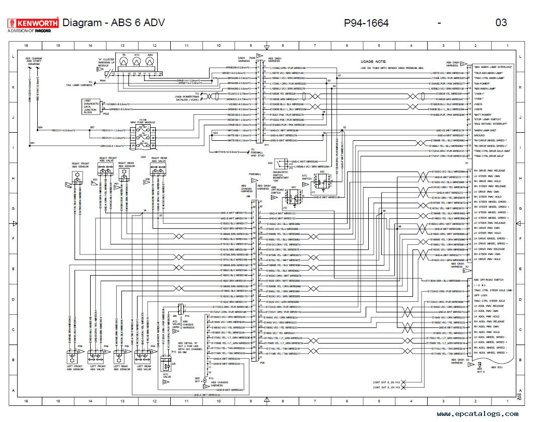 hight resolution of wiring diagram kenworth t2000 wiring diagram log 1999 kenworth turn signal wiring diagram