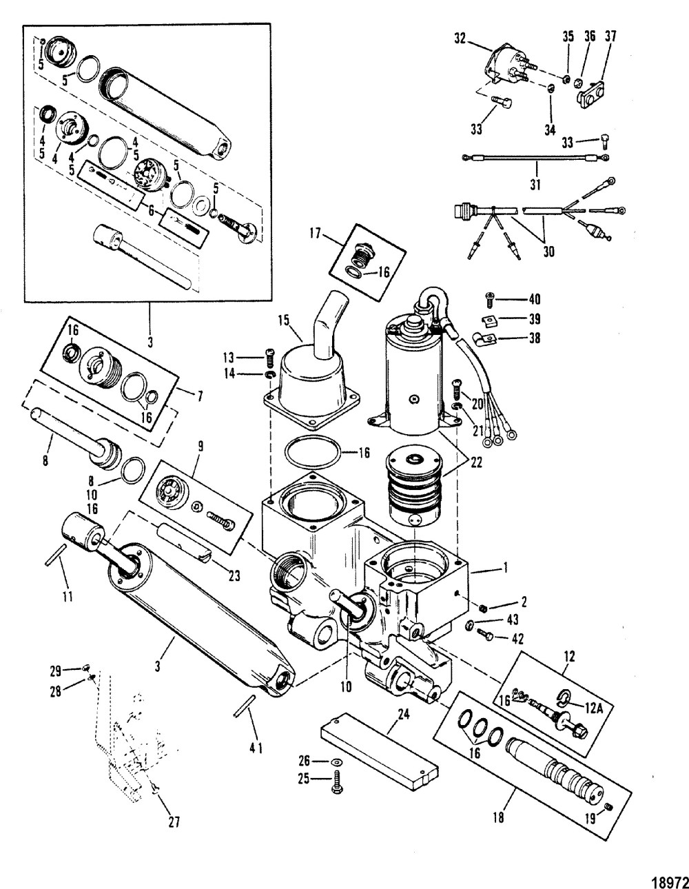 medium resolution of power trim ponents for mariner mercury 90 115 h p inline mercury outboard power trim wiring diagram