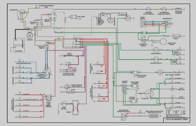 Mg Midget 1969 Us Spec Color Wiring Diagram 11x17 Parts