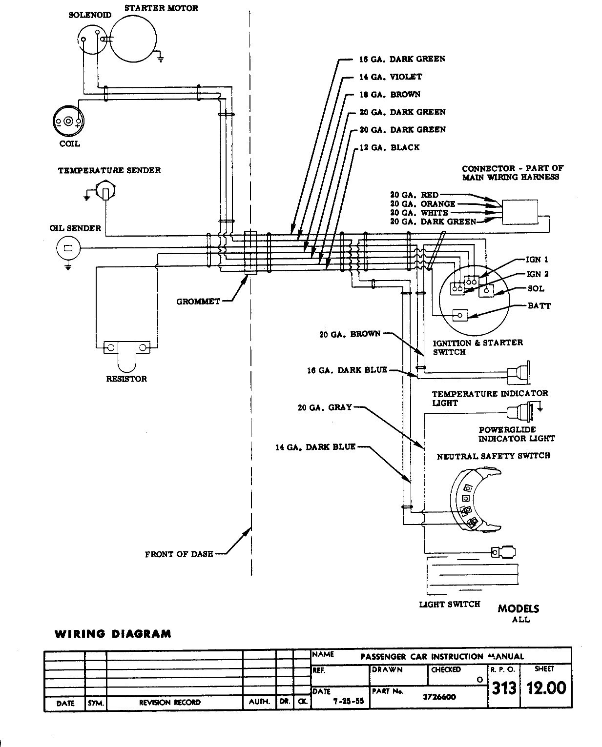 With Neutral Switch Wire Diagram