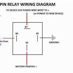 12v 30a Relay 4 Pin Wiring Diagram Plug Switch Light Omron Library