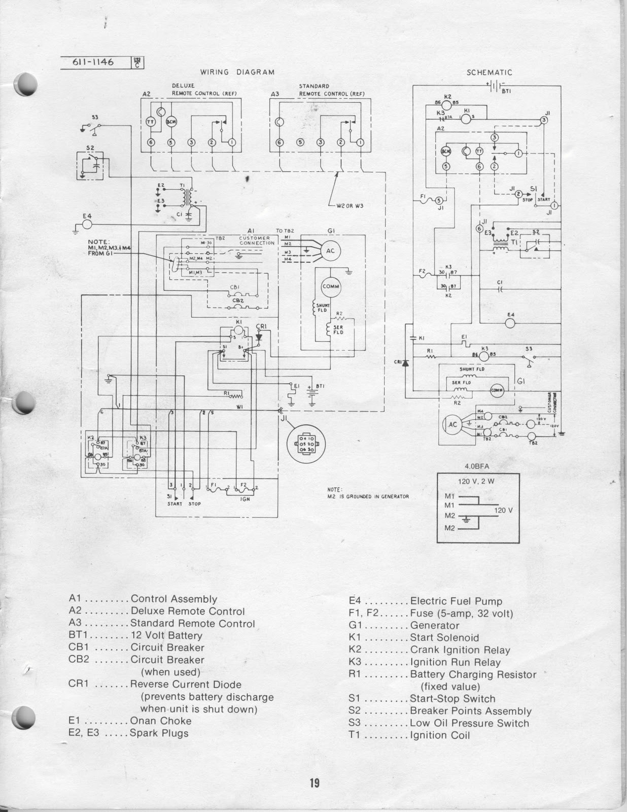 wiring diagram for onan generator 4500