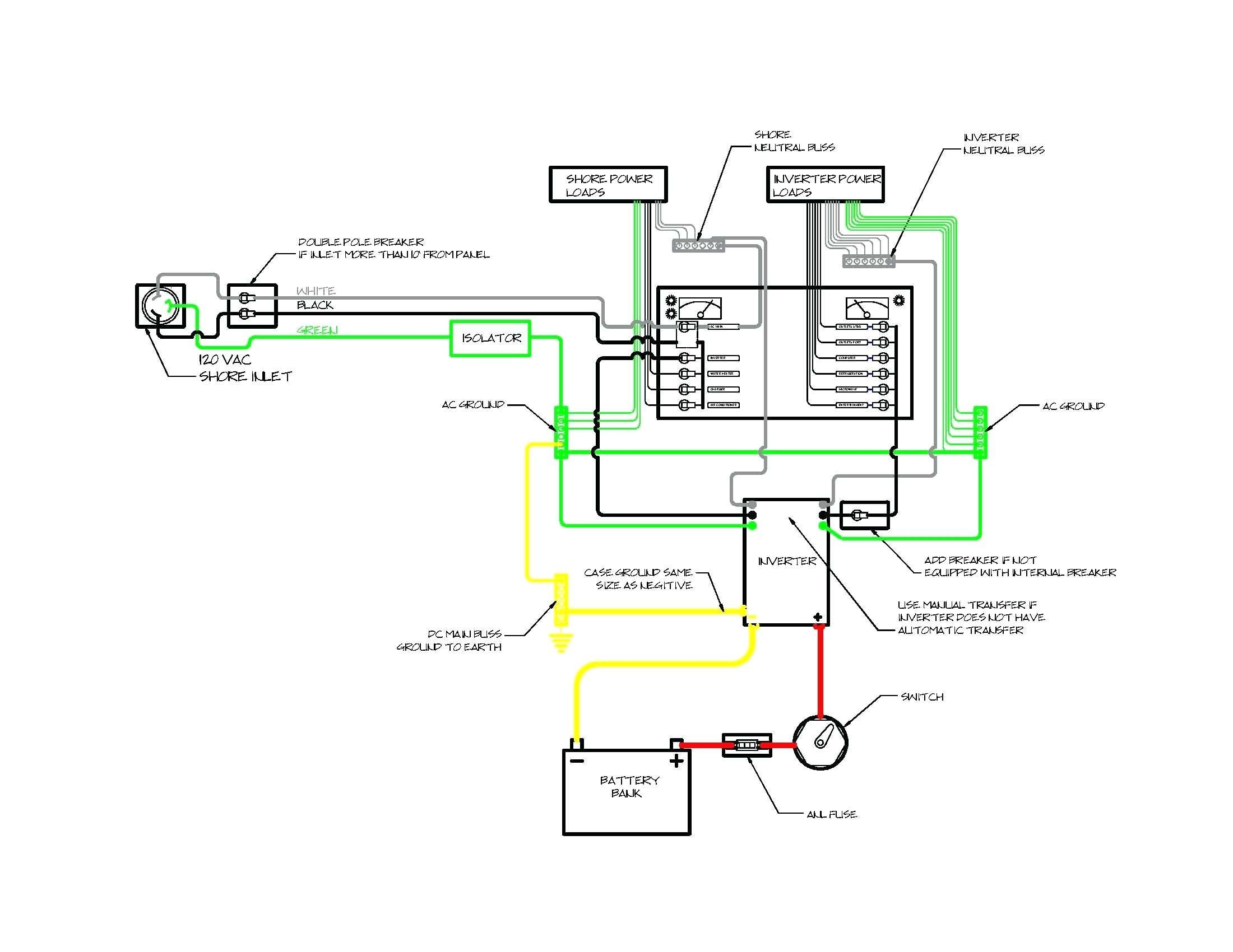 Wiring Diagram For Inverter On Boat