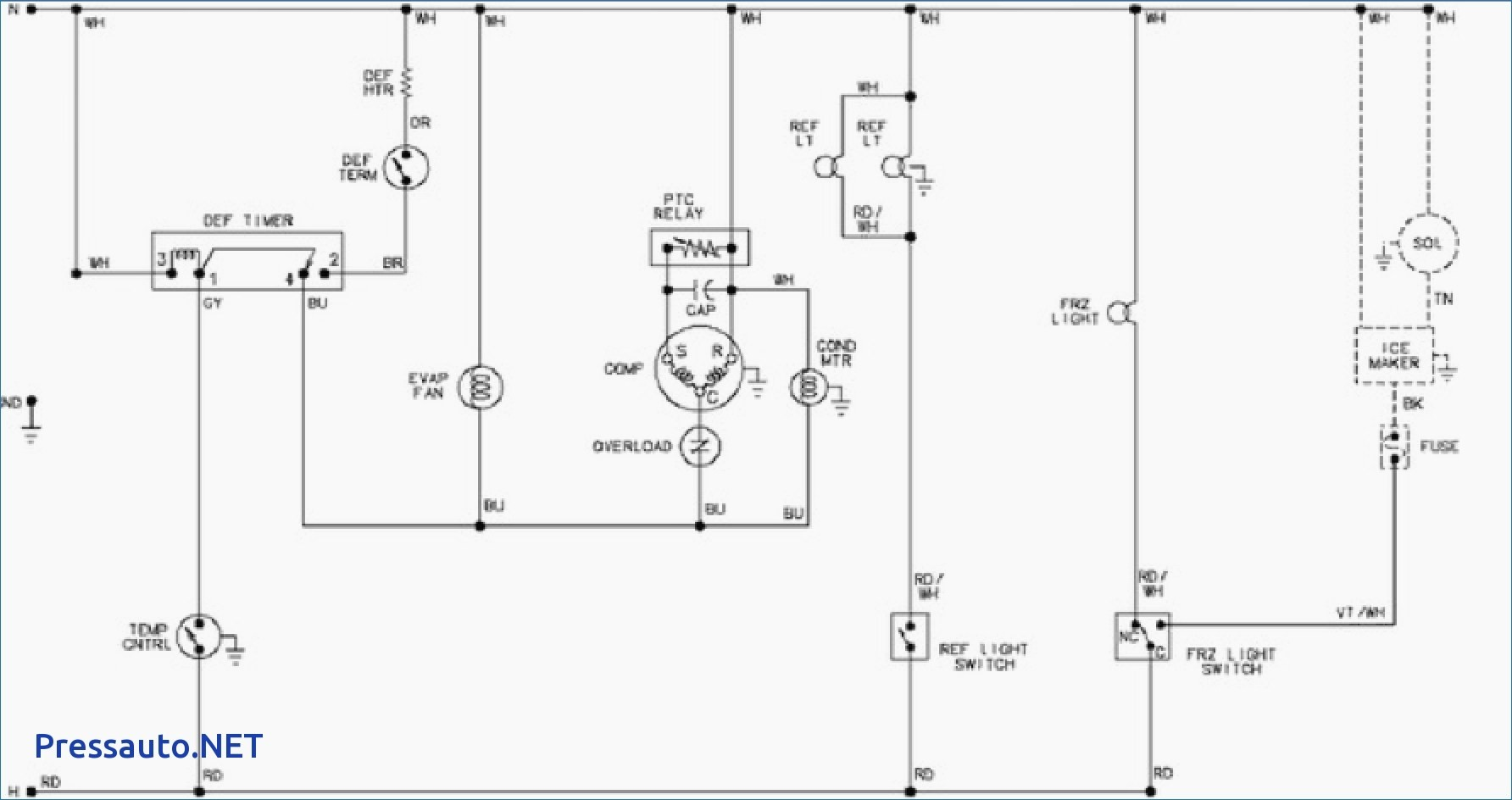 Wiring Diagram Of Refrigerator Pdf Great Installation Kitchenaid Schematic Library Rh 43 Budoshop4you De Kenmore