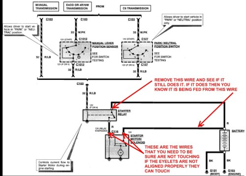 small resolution of starter solenoid wiring diagram chevy wiring diagram image rh mainetreasurechest com 94 f150 starter wiring diagram