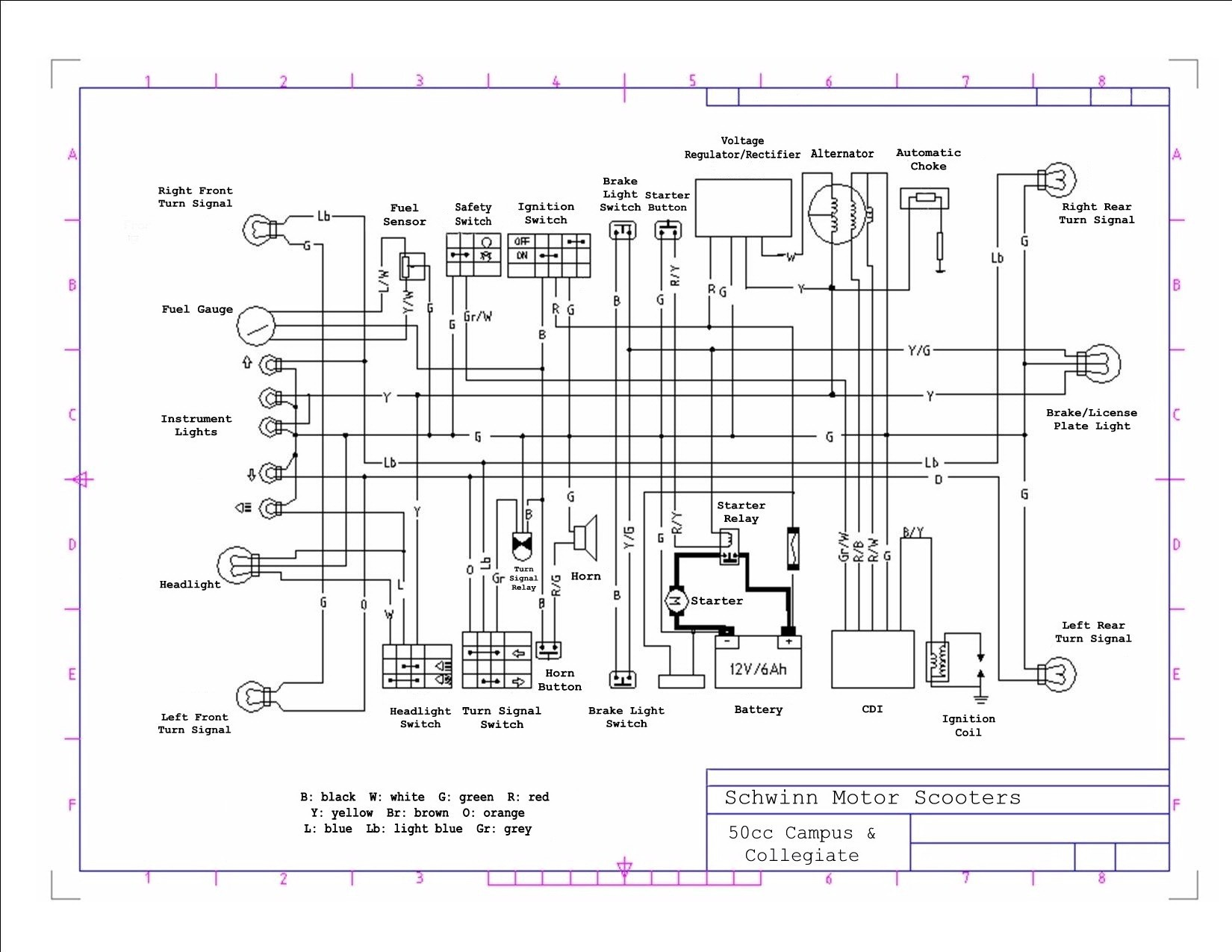 hight resolution of 50cc scooter headlight wiring diagram wiring schematic diagram scooter magneto wiring diagram wiring library 50cc scooter