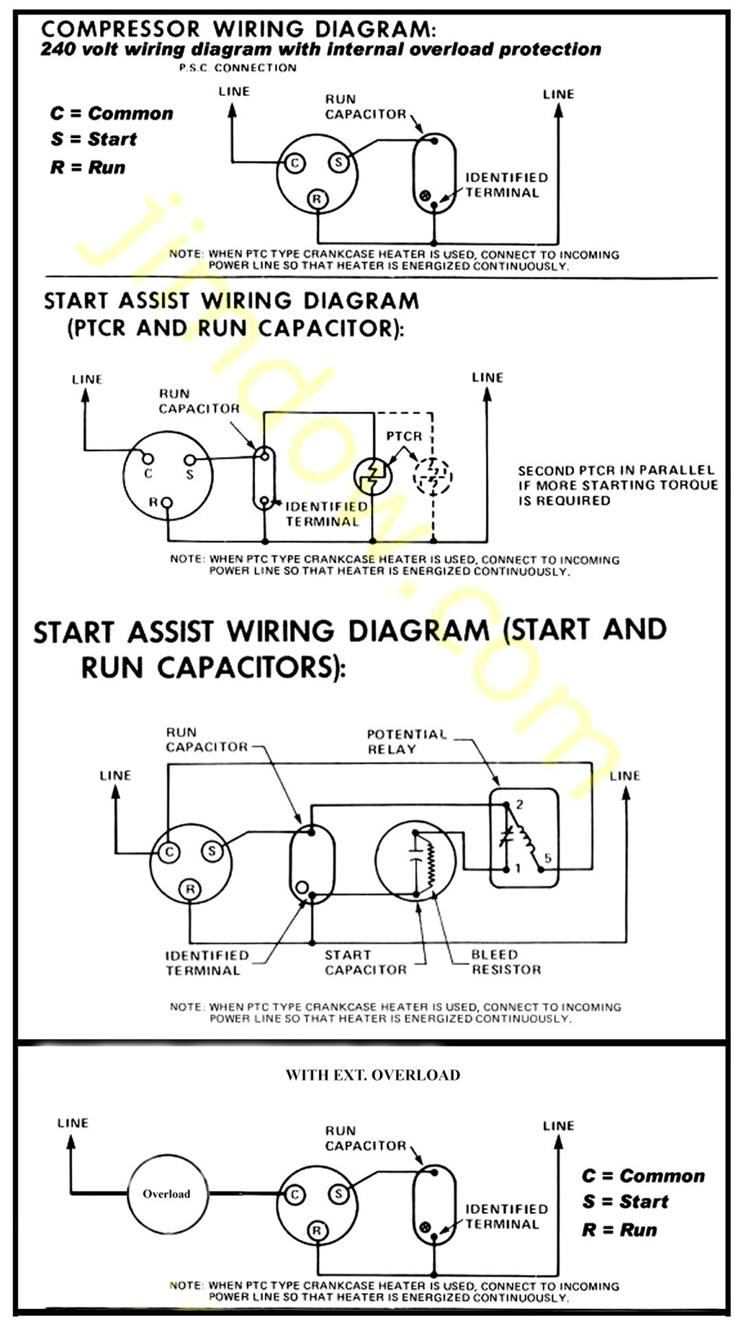 hight resolution of teseh compressor wiring diagram 115v wire center u2022 rh masinisa co single phase single