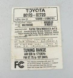 toyota 86120 wiring diagram electrical fujitsu 0c020 trusted diagrams radio connector pinout [ 1143 x 1280 Pixel ]