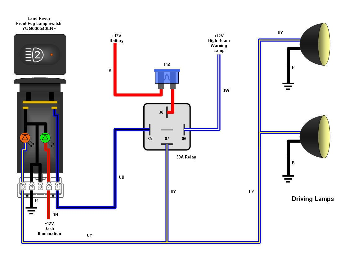 hight resolution of diagram also light switch wiring moreover schematic also fog light light harness wiring w switch moreover universal hd 12v relay wiring