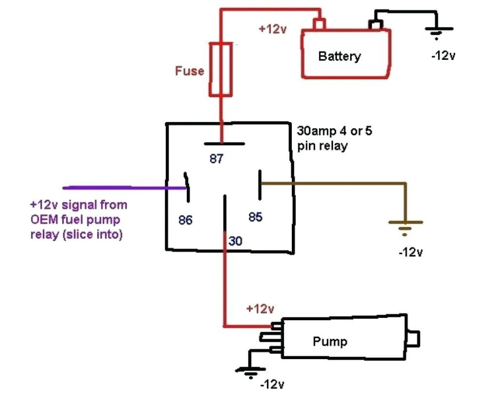 medium resolution of the 12 volt wiring schema wiring diagram 4 pin relay wiring diagram fuel pump 12 volt