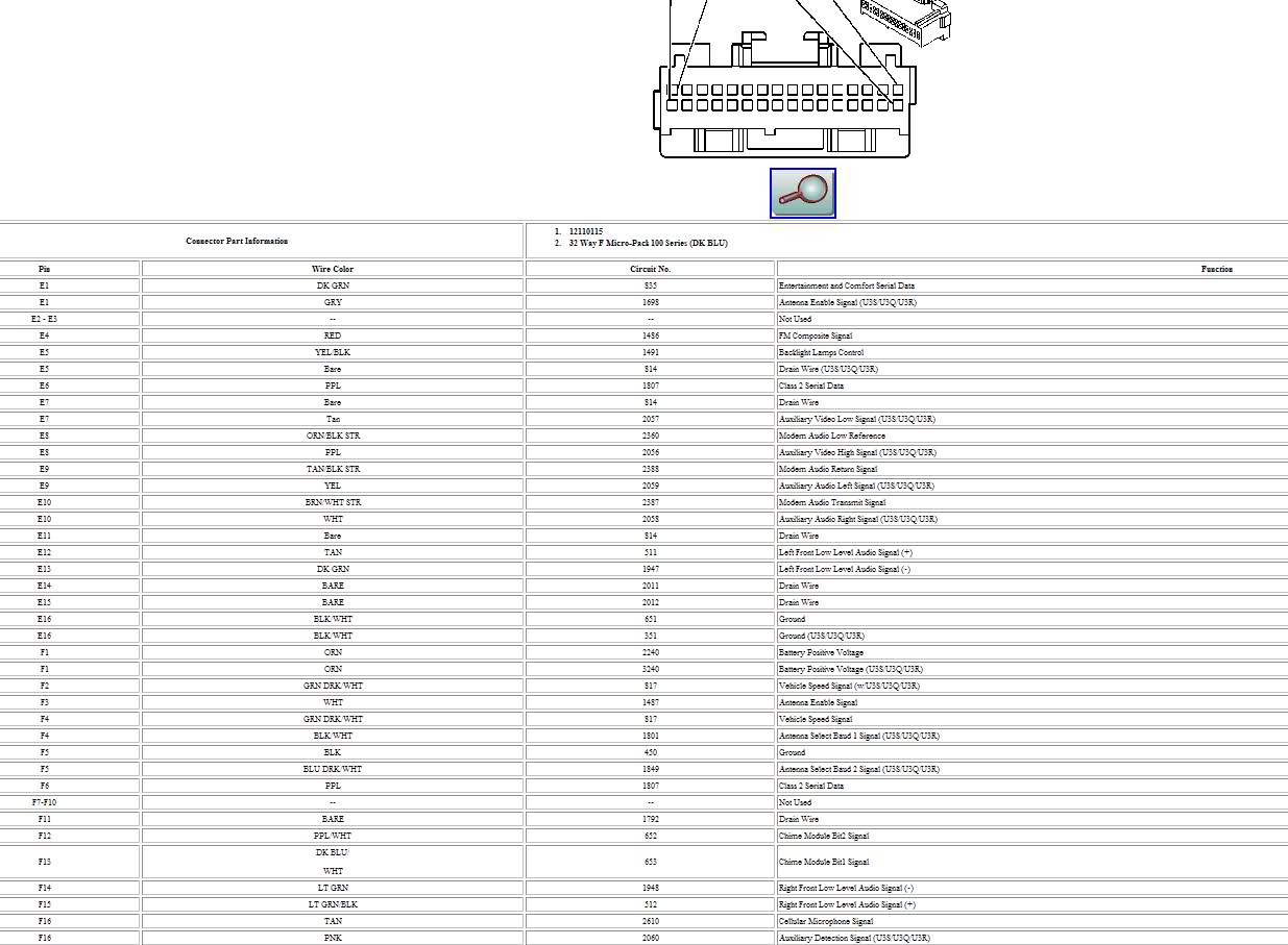 2003 Escalade Cd Changer Wire Diagram