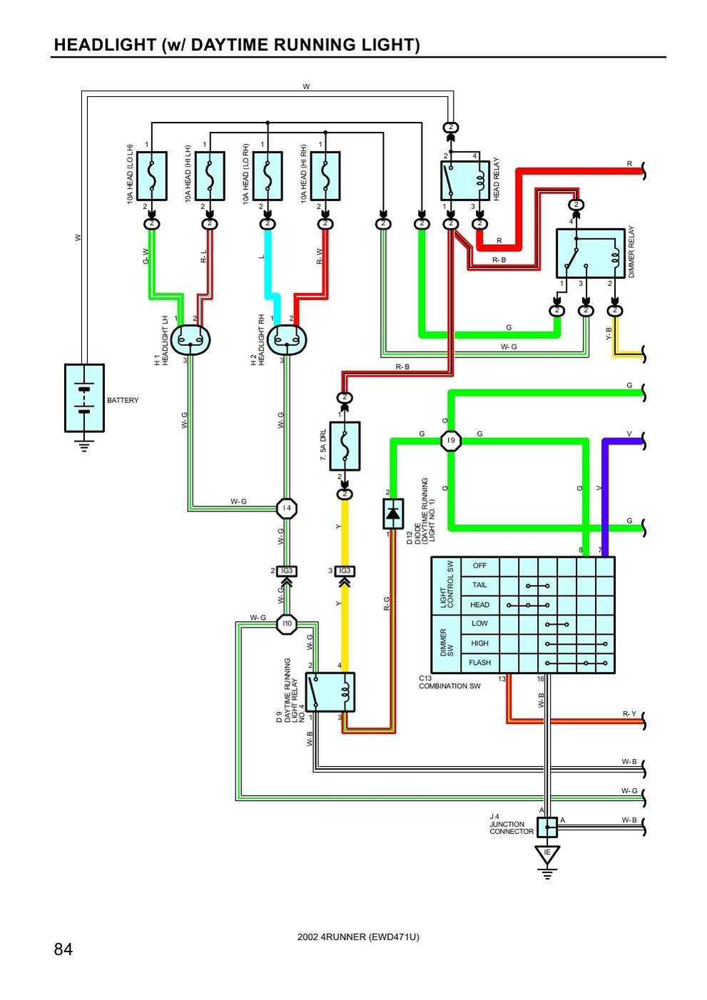 medium resolution of toyota 4runner wiring diagram radio