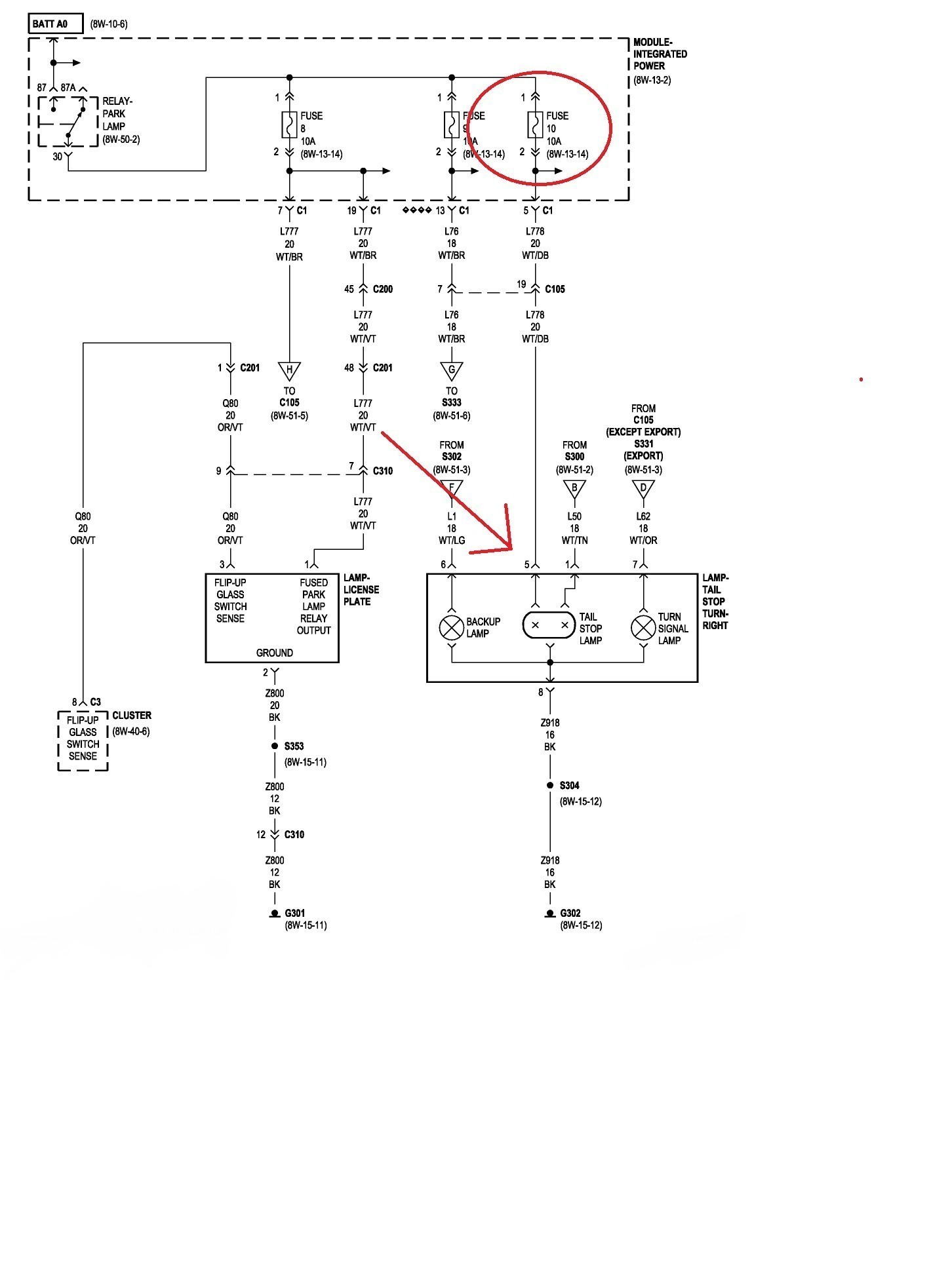 Jeep Tj Tail Light Wiring Diagram on mitsubishi outlander tail light wiring, dodge tail light wiring, lincoln town car tail light wiring, eagle talon tail light wiring, toyota tail light wiring, jeep cj7 tail light wiring,