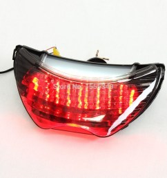 for honda cbr 600 f4 f4i led motorcycle taillights brake tail lights with integrated turn signals [ 1000 x 1000 Pixel ]