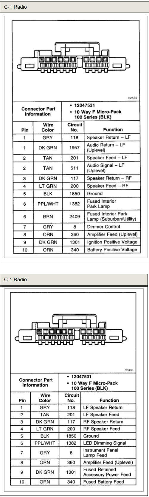 medium resolution of 1997 chevy express van radio wiring diagram