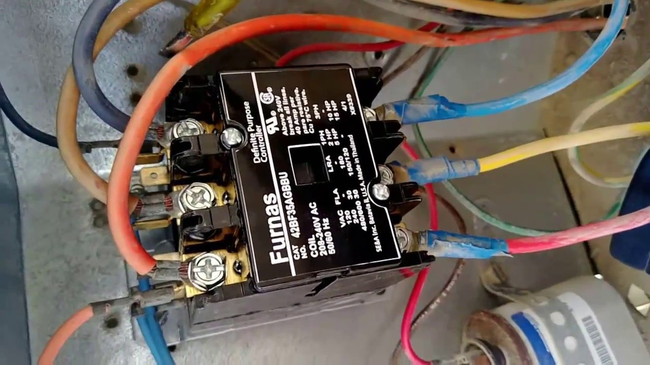 2 pole definite purpose contactor wiring diagram 2000 honda xr650r trane library diy enthusiasts furnace