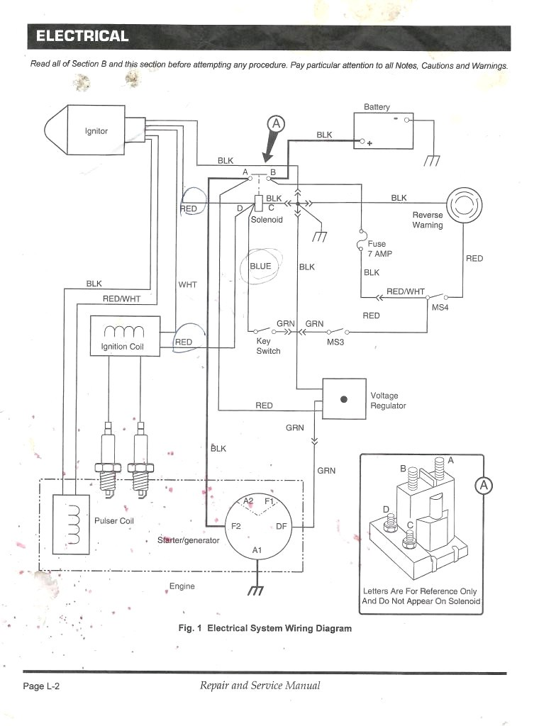 medium resolution of wiring diagram 1987 ez go golf cart